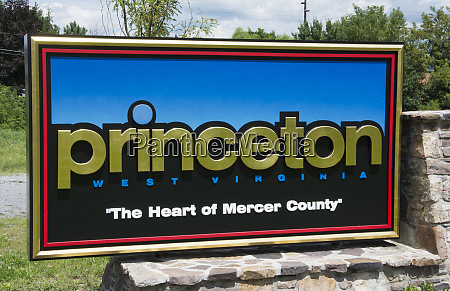 princeton west virginia sign of welcome