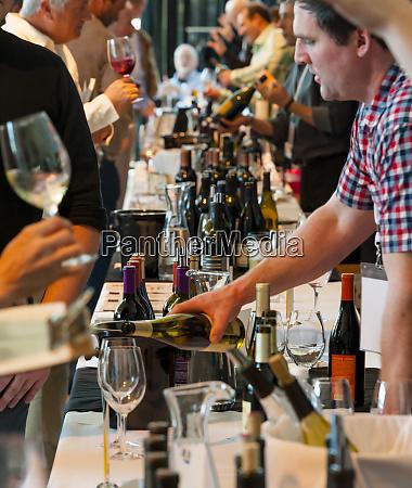 usa oregon portland winemakers pouring wine