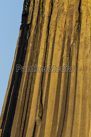 columnar basalt at devils tower national