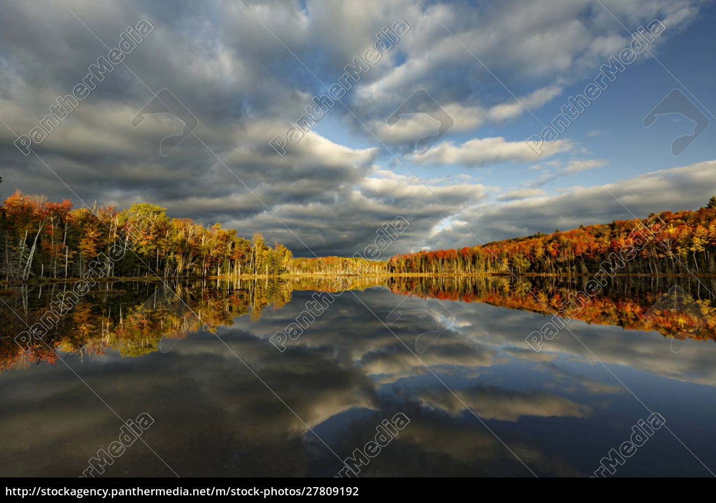 red, jack, lake, and, sunrise, reflection, - 27809192