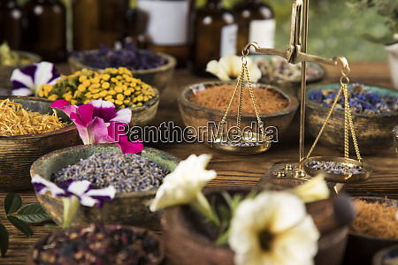 natural remedy healing herbs background