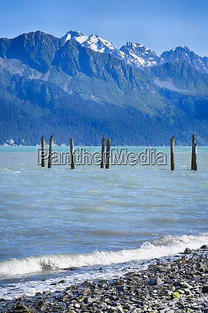 usa alaska seward boat harbor piling