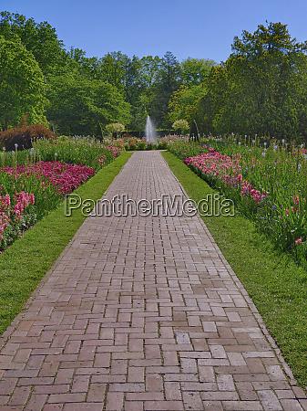 usa pennsylvania long walkway in an