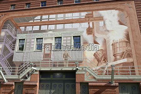 usa pennsylvania pittsburgh byham theater mural