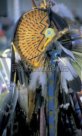 blackfeet war society shield decorated with