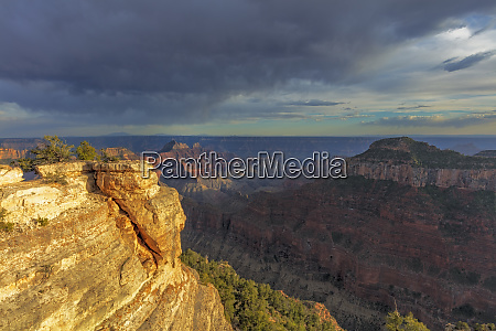 view from bright angel point on