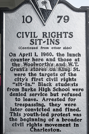 educational sign about civil rights in