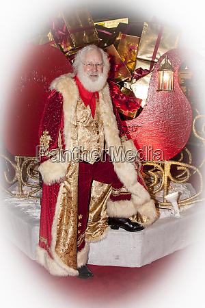 full length portrait of santa claus