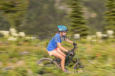 mountain biking on the summit trail