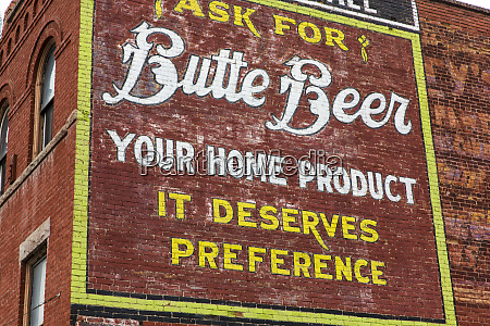 historic building beer advertisement painting on