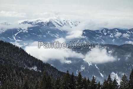 beautiful winter nature landscape amazing mountain