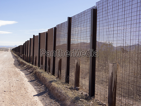 usa arizona usa mexico boarder fence