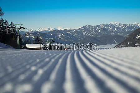view of mountains and ski slopes