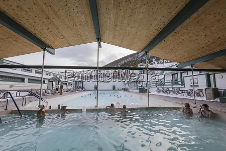 chico hot springs in winter in