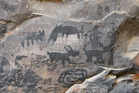 usa arizona sedona black petroglyphs of