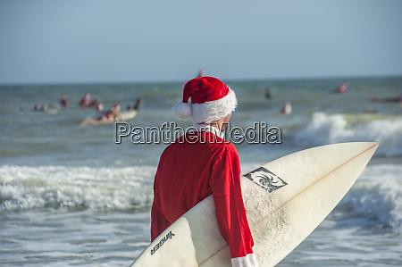 surfing santas cocoa beach florida usa