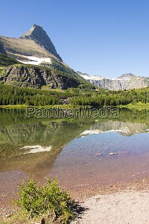 glacier national park glass calm on