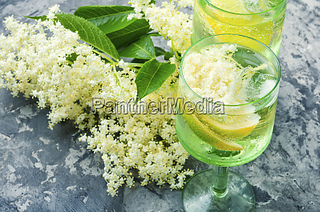 champagne from elderberry flowers