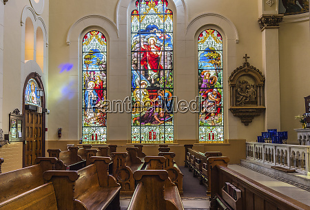 interior portion of catholic church with
