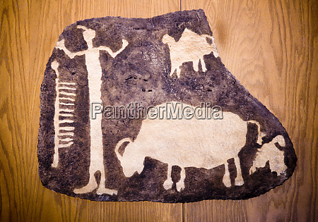 ute petroglyph rock carving of a