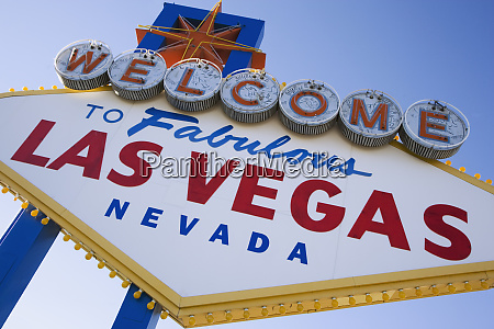 usa nevada las vegas welcome sign