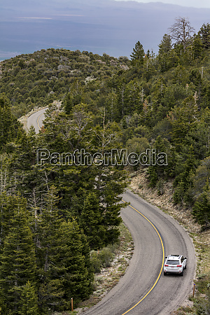 wheeler peak scenic highway road in