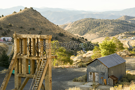 landscape over a ghost town gold