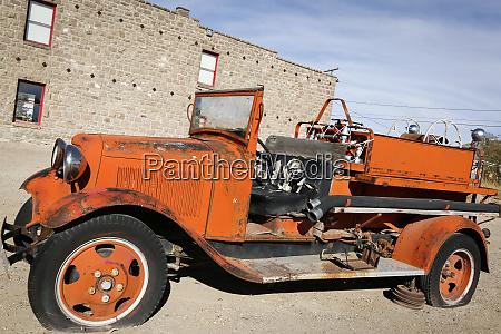 antique fire truck goldfield nevada usa