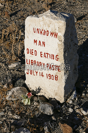 tombstone in a graveyard goldfield nevada