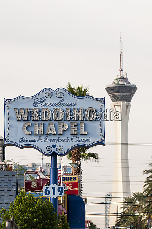 the wedding chapel with the stratosphere