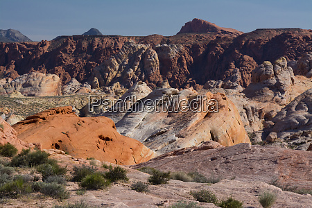 multicolored landscape scenic drive valley of