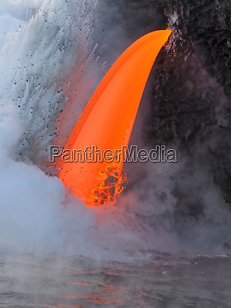 usa hawaii big island lava from