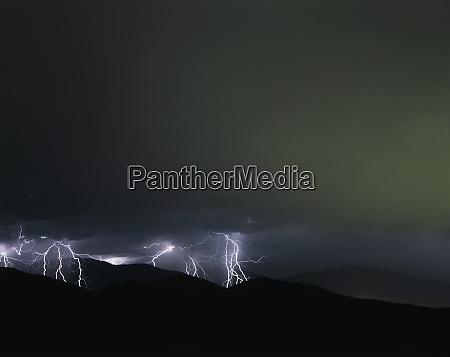 usa california lightning strikes over the