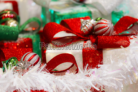 decoratively wrapped christmas presents new mexico