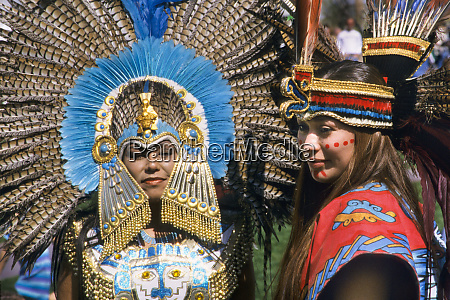 close up of two aztec women