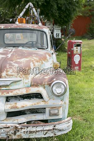 rusted antique automobile tucumcari new mexico