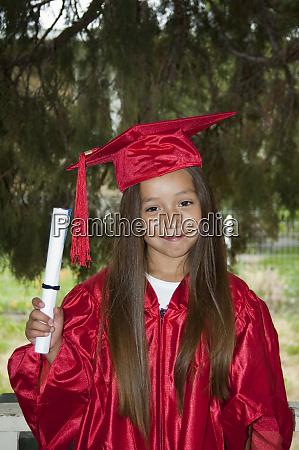 native american elementary age girl dressed