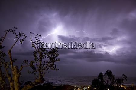 usa california del mar lightning storm