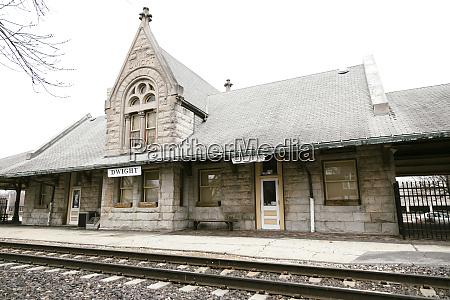 dwight train station exterior dwight illinois