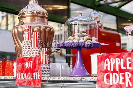 street vendor serving hot beverages new