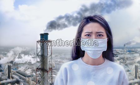 young woman wear mask
