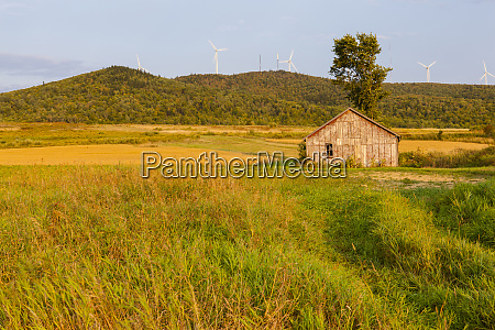 an old farm building in a