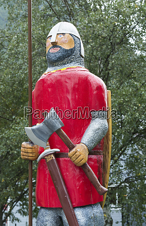 borgund norway old statue of viking