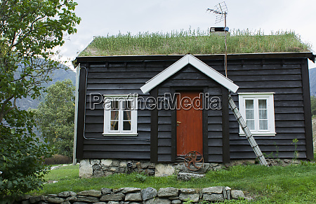 laerdal norway grass roof house in