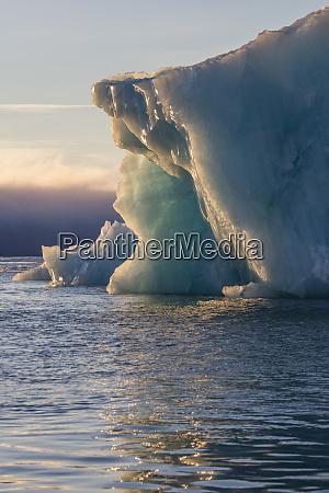 norway svalbard kvitoya iceberg and fog