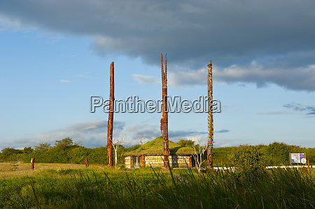 traditional hut with piles on the