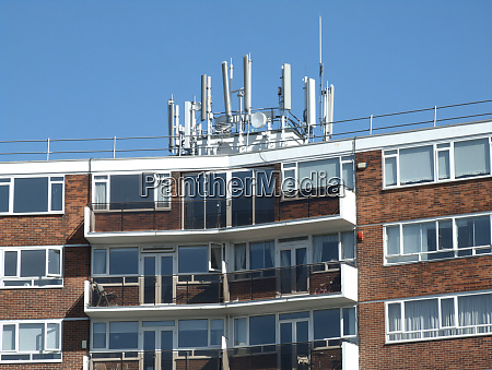 communications aerials block of flats london