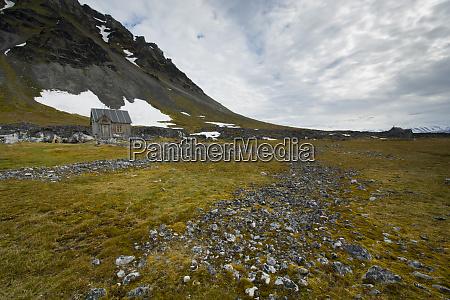 norway svalbard bellsund camp millar miners
