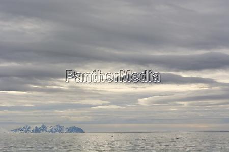 norway svalbard krossfjord cloudy skies