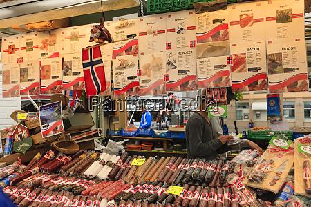 outdoor seafood market bergen norway